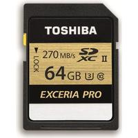 Toshiba Exceria Pro N501 SDXC Class 10 UHS-II U3 270MB/s 64GB