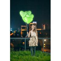 LED-Ballonger Hjärtan Gröna 30 cm 5-pack