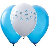 Latexballonger - Blå &amp Vita med finska flaggor 10-pack