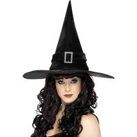 Smiffys Witch Hat with Diamante Buckle