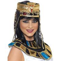 Egyptisk Huvudbonad - Guld &amp Svart