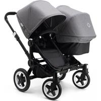 Bugaboo Donkey DUO All Black Extendable Top Grey Melange