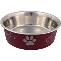 Trixie Stainless Steel Bowl With Plastic Coating 0.45l