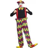 Smiffys Hooped Clown Costume Multi-Coloured