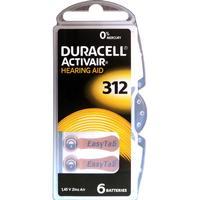 312 duracell 10-pack activair - 60 stycken hörapparatsbatterier