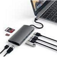 Satechi Type-C MultiPort Adapter 4K V2 Spacegrey, HDMI, 3 x USB 3.0, USB-C, SD/microSD, Ethernet