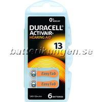 Batterikungen Duracell A13 hörapparatsbatterier - 6 st