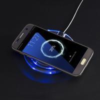 Trådlös laddare till iPhone 5, 6, 7, 8, X Samsung Galaxy S7, S6, Edge: Vit