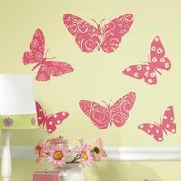 RoomMates Väggdekor Flocked Butterfly