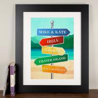 Personalised Print - Beach Sign