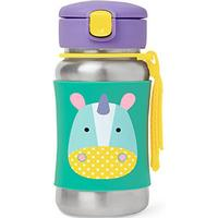 Skip Hop Zoo Stainless Steel Little Kid Straw Bottle Eureka Unicorn