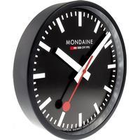 C.W. Sellors Mondaine Wall Clock Black Frame 25cm