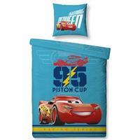 Disney Pixar Cars 3 juniorsengetøj 100 x 140 cm - 100% bomuld - Følg med Lynet McQueen til drømmeland