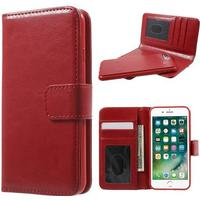2 i 1 cover til Iphone 8 plus / 7 plus rød