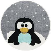 Livone Barnmatta Happy Rugs Svanhilde Design Pingvinen Elliot Rund 133cm
