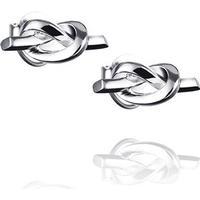 Efva Attling Love Knot Silver Earrings (12-100-00968-0000)
