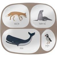 Sebra Melamine Plate w/4 Rooms Arctic Animals