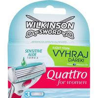 Wilkinson Sword Quattro for Women Sensitive Replacement Blades 3-pack