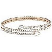 Swarovski Twisty Rose Gold Plated Drop Bangle w. White Crystals (5073594)