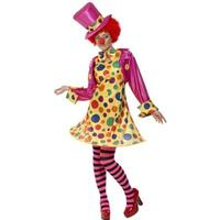 Smiffys Clown Lady Costume Multi-Coloured