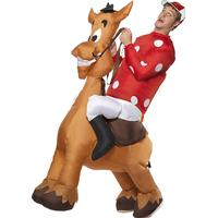 Smiffys Inflatable Jockey & Horse Costume