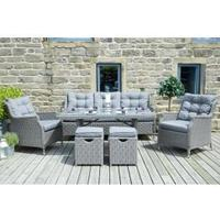Pacific Jamaica Slate Grey Relaxed Dining Set