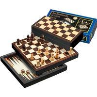 Philos Spiele Schack/Chess - Backgammon - Checkers set: Travel, Magnetic