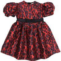 LEOPARD BROCADE PARTY DRESS