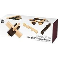 Professor Puzzle Ultimate IQ Test Set of 3 Wooden Puzzles