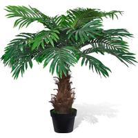 vidaXL Konstgjort Cycas Palmträd med Kruka 80 cm