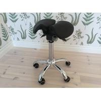 ErgoMax Delad (Twin), sadelstol med delad sits, SVART