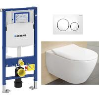 Villeroy & Boch V&B Subway 2.0 Direct Flush Toalettpaket Komplett paket Alpinvit