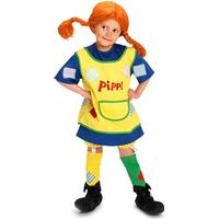 Micki Pippi Kläder & Peruk 6 år