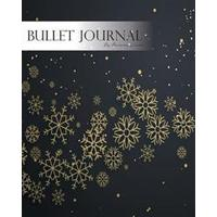 Bullet Journal Notebook, Dotted Grid, Graph Grid-Lined Paper, Large, 8x10, 150 Pages: Black Night Christmas Snowflakes and Star Light: Master Journali (Häftad, 2017)