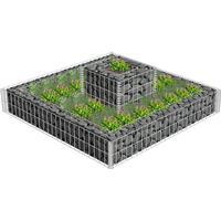 vidaXL Gabion för Växtplantering 2-plan