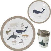 Sebra Melamine Dinner Set Arctic Animals 3 pcs