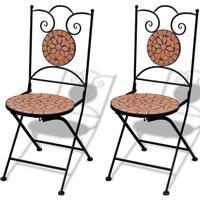 vidaXL Bistro stol mosaik terrakotta 2st
