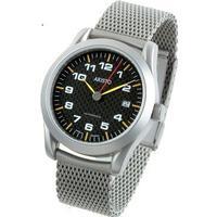 Aristo Herrenuhr 40 mm Uhr mit Carbonzifferblatt - 3H46