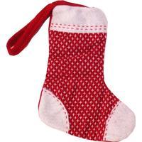 Filt/strik mini sokker t/ophæng stjerne  -  20CM
