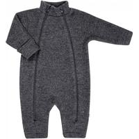 Joha Merino Wool Fleece Baby overall Pramsuit - Charcoal