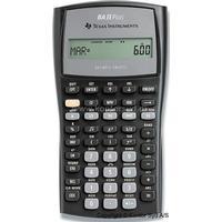 Regnemaskine, Handel-Finans, 10 cifre, Sølv, Texas Instruments BA-II+