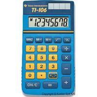 Regnemaskine, Junior, 8 cifre, Lyseblå, Texas Instruments TI-106 P