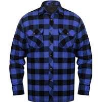 vidaXL Fodrad flanellskjorta av pläd herr Blå-Svart rutig Storlek XXL fe6175021eb10