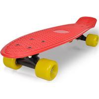 vidaXL Penny skateboard plast röd bräda gula hjul 6,1