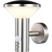 """Luxform LED-væglampe med PIR-sensor """"Trier"""" sølvfarvet LUX1701S"""