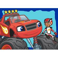Blaze og Monstermaskinerne gulvtæppe 01 til børn 133x95