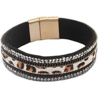Armband, leopard, strass, nitar
