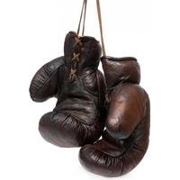 John Woodbridges 1920 tal Boxningshandskar Mörkbrun Läder