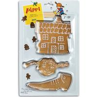 Pippi Långstrump Pippi, Bakformar - Pippis sko, hus och huvud