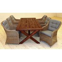 Baltic Garden Lotus Oxford 220x100cm Table incl. 6-Chairs Matgrupp